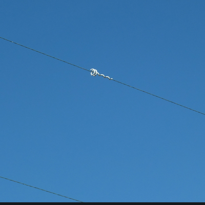 Deflector on wire